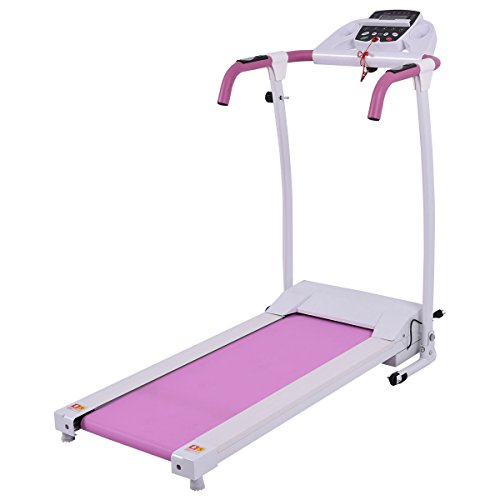 Goplus 800W Pink Folding Treadmill Electric Motorized Power Fitness Running Machine w/support